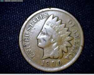 1900  INDIAN HEAD SMALL CENT PENNY LT001