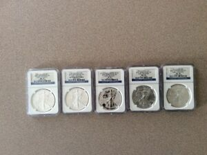 25TH ANNIVERSARY SILVER EAGLE SET 2011 MS PF 70