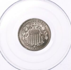 1883 SHIELD 5C PCGS CAC CERTIFIED PR66 PROOF STRUCK US MINT NICKEL COIN