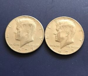 SET OF 1977 D&P JHON F. KENNEDY HALF DOLLAR 50C SAME AS SHOWN