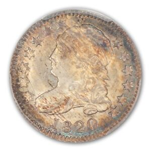 Click now to see the BUY IT NOW Price! 1820 10C SMALL 0 JR 5 CAPPED BUST DIME PCGS MS65
