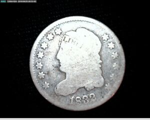 1832 CAPPED BUST SILVER HALF DIME 6854