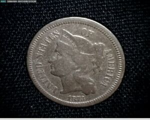 1873  3 CENT NICKEL A537