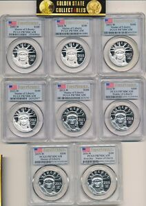 Click now to see the BUY IT NOW Price! 2009 W 2016 W 8 COIN PROOF PLATINUM RUN PCGS PR70 DCAM FIRST STRIKES  AMAZING