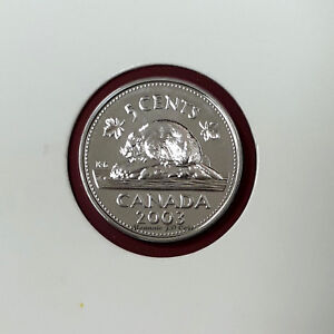 2003P OLD EFFIGY CANADA 5 CENT PROOF LIKE