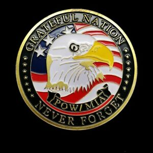 US ARMY COMMEMORATIVE COIN AMERICAN EAGLE BADGE AIR FORCE NAVY MARINES ARTWORK