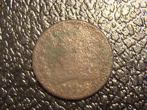 1809 HALF CENT ROTATED REVERSE CORROSION PRICE LOWERED  WE COMBINE SHIPPING