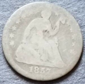 1857 LIBERTY SEATED HALF DIME   ADDITIONAL ITEMS SHIP FREE