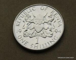 1994 REPUBLIC OF KENYA ONE SHILLING  CIRCULATED AS IMAGED AAV3