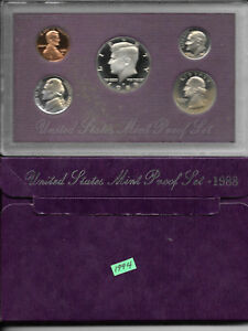 1988 UNITED STATES MINT PROOF SET IN ORIGINAL BOX   1994