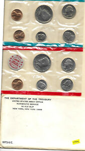 1972 P & D US MINT SET UNITED STATES ORIGINAL GOVERNMENT PACKAGING