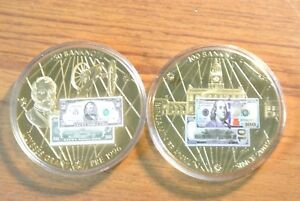 $100 FRANKLIN AND $50 GRANT BANKNOTE COMMEMORATIVE COINS PROOF