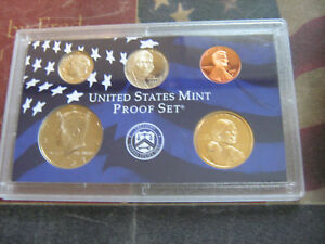 2007 S US PARTIAL CLAD PROOF SET 5 CAMEO COINS  AA11