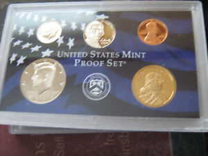 2006 S US PARTIAL CLAD PROOF SET 5 CAMEO COINS  AA11