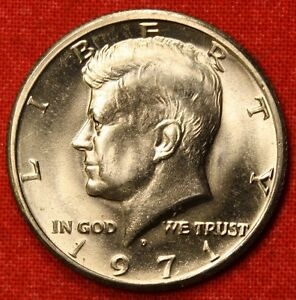 1971 D 50C KENNEDY HALF DOLLAR FROM OBW BU  BEAUTIFUL COLLECTOR COIN GIFT KH52