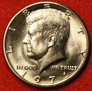 1971 D 50C KENNEDY HALF DOLLAR FROM OBW BU  BEAUTIFUL COLLECTOR COIN GIFT KH51
