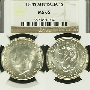 Click now to see the BUY IT NOW Price! 1943 S SHILLING AUSTRALIA NGC MS65 GEM UNC EQUAL HIGHEST GRADED