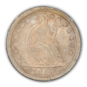 Click now to see the BUY IT NOW Price! 1853 ARROWS 10C LIBERTY SEATED DIME PCGS MS66
