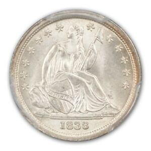 Click now to see the BUY IT NOW Price! 1838 10C LG STARS NO DRP LIBERTY SEATED DIME PCGS MS66