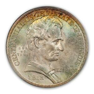 Click now to see the BUY IT NOW Price! LINCOLN 1918 50C SILVER COMMEMORATIVE PCGS MS68