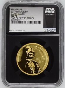 Click now to see the BUY IT NOW Price! 2017 NIUE STAR WARS DARTH VADER 1OZ G$250 GOLD NGC 4558923 007 FIRST STRUCK MS70