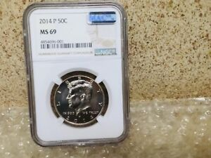 Click now to see the BUY IT NOW Price! 2014 P KENNEDY HALF DOLLAR NGC MS69 POP 2