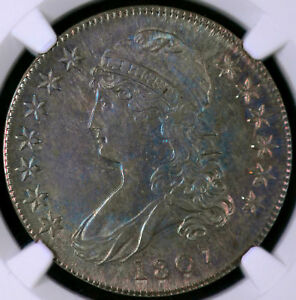 Click now to see the BUY IT NOW Price! TONED 1807 50/20C CAPPED BUST HALF DOLLAR UNCIRCULATED NGC MS 64 4496763 005