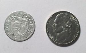 1623 SILVER COLONIAL COIN WITH SUPER NICE DETAILS   SEE PICTURES   396 YEARS OLD