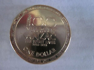 2017 ANZAC  $1 COIN REMEMBRANCE LEST WE FORGET. UNC