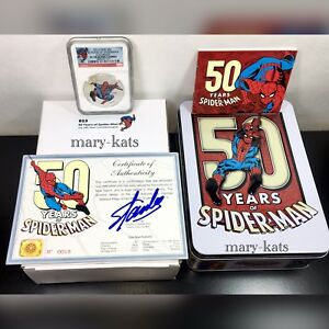 Click now to see the BUY IT NOW Price! 2013 NIUE S$2 50 YEARS OF SPIDERMAN NGC PF70UC COA  013 HAND SIGNED BY STAN LEE