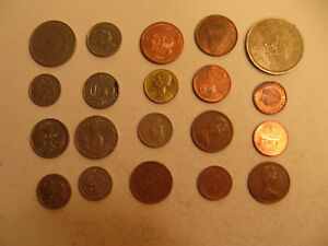 MIXED LOT OF FOREIGN COINS  26 .