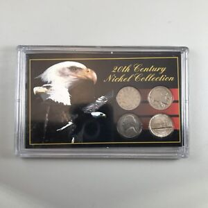 20TH CENTURY NICKEL COLLECTION IN HOLDER   4 COINS V NICKEL BUFFALO