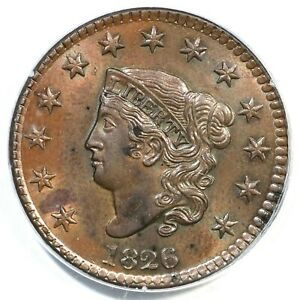 Click now to see the BUY IT NOW Price! 1826 N 7 PCGS MS 64 BN MATRON OR CORONET HEAD LARGE CENT COIN 1C