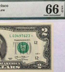 2013 $2 SAN FRANCISCO   STAR    FRN PMG GEM UNCIRCULATED 66 EPQ