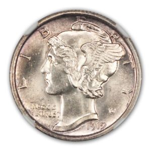 Click now to see the BUY IT NOW Price! 1919 D MERCURY DIME 10C NGC MS65FB