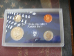 1999 S US PARTIAL CLAD PROOF SET 4 CAMEO COINS  AA1