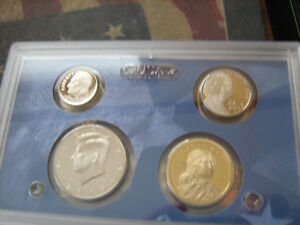 2009 S US PARTIAL CLAD PROOF SET 4 CAMEO COINS  AA1