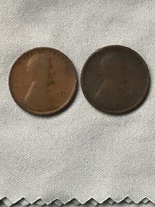1910 &1912 LINCOLN WHEAT CENT   TWO COINS
