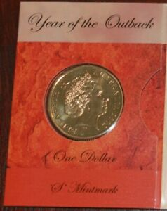2002 AUSTRALIA $1 YEAR OF THE OUTBACK COIN