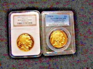 Click now to see the BUY IT NOW Price! 2  COINS 2006 NGC PF70 $50 AMERICAN GOLD BUFFALO 1 OZ EA.9999 FINE FIRST STRIKES