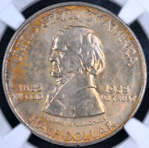 1925 50C FORT VANCOUVER COMMEMORATIVE HALF DOLLAR   NGC CAC MS67 4239475 005