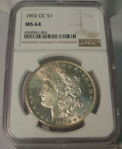 Click now to see the BUY IT NOW Price! 1892 CC $1 UNITED STATES SILVER MORGAN DOLLAR NGC MS64 CARSON CITY HIGH GRADE