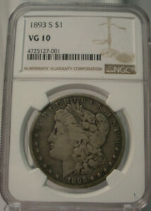 Click now to see the BUY IT NOW Price! 1893 S $1 UNITED STATES SILVER MORGAN DOLLAR NGC VG 10 SAN FRANCISCO KEY DATE