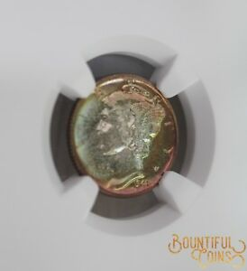 Click now to see the BUY IT NOW Price!  1941 NGC PF 68 MERCURY DIME RAINBOW COIN TONING 10C TEN CENTS PROOF 68 PR  T3