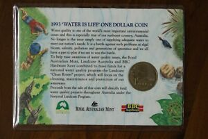 AUSTRALIA 1993 $1 UNC WATER IS LIFE LANDCARE CLEAN RIVERS  330682D4