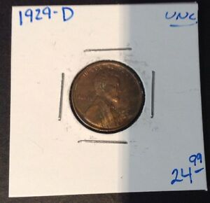 1929 D 1C LINCOLN CENT