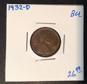 1932 D 1C LINCOLN CENT