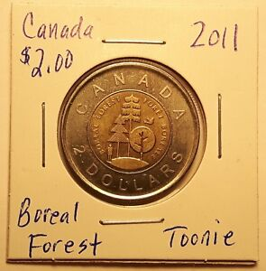 2011 CANADA BOREAL FOREST TOONIE TWO DOLLAR COIN 83