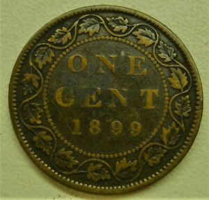 1899 CANADA LARGE ONE CENT PENNY COIN