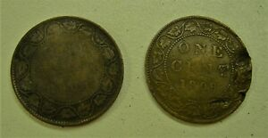 1904 & 1909 CANADA LARGE PENNY